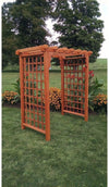 A & L FURNITURE CO. 6' Covington Pressure Treated Pine Arbor  - Ships FREE in 5-7 Business days - Rocking Furniture