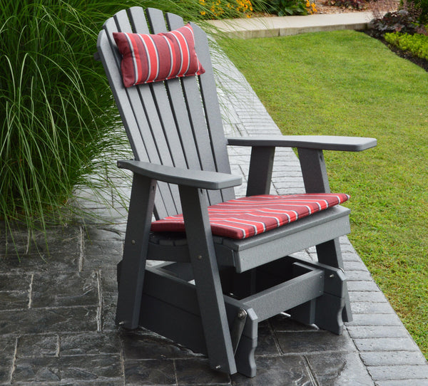 A L Furniture Co Poly Adirondack Glider Chair