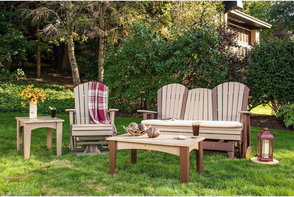 Luxcraft Double Adirondack Glider Chair 3 Seater