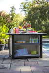 "Leisure Lawns Amish Made Recycled Plastic Poly Classic 62""W x 39""H Outdoor Kitchen Island Bar- LEAD TIME TO SHIP 14 WEEKS"