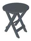 A&L Furniture Co. Recycled Plastic Round Folding Bistro Table - LEAD TIME TO SHIP 3 WEEKS