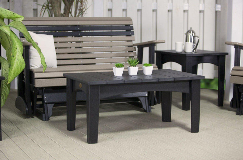 Luxcraft Outdoor Recycled Plastic Island Coffee Table