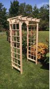 A & L FURNITURE CO. 4' Morgan Pressure Treated Pine Arbor  - Ships FREE in 5-7 Business days - Rocking Furniture