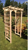 A & L FURNITURE CO. 4' Concord Pressure Treated Pine Arbor  - Ships FREE in 5-7 Business days - Rocking Furniture