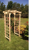 A & L FURNITURE CO. 3' Madison Pressure Treated Pine Arbor