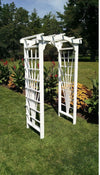 A & L FURNITURE CO. 4' Cranbrook Pressure Treated Pine Arbor  - Ships FREE in 5-7 Business days - Rocking Furniture
