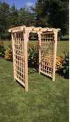A & L FURNITURE CO. 5' Lexington Pressure Treated Pine Arbor  - Ships FREE in 5-7 Business days - Rocking Furniture