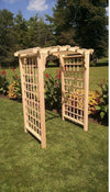 A & L FURNITURE CO. 4' Cambridge Pressure Treated Pine Arbor  - Ships FREE in 5-7 Business days - Rocking Furniture