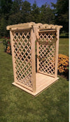 A & L FURNITURE CO. 4' Covington Pressure Treated Pine Arbor & Deck  - Ships FREE in 5-7 Business days - Rocking Furniture
