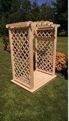 A & L FURNITURE CO. 5' Jamesport Pressure Treated Pine Arbor & Deck  - Ships FREE in 5-7 Business days - Rocking Furniture