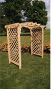 A & L FURNITURE CO. 6' Jamesport Pressure Treated Pine Arbor  - Ships FREE in 5-7 Business days - Rocking Furniture