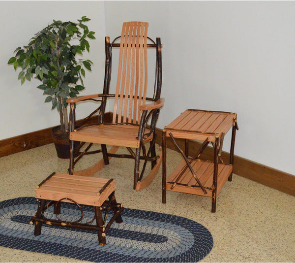 Fabulous A L Furniture Co Amish Bentwood 7 Slat Hickory Rocking Chair With Foot Stool And End Table Set Ships Free In 5 7 Business Days Squirreltailoven Fun Painted Chair Ideas Images Squirreltailovenorg
