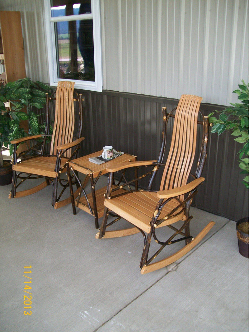 A Amp L Furniture Co Amish Bentwood 7 Slat Hickory 3pc