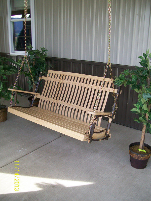 furniture for porch. A\u0026L Furniture Co. 5\u0027 Hickory Porch Swing - Rocking For