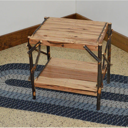 Exceptionnel Amish Hickory End Table   Ships FREE In 5 7 Business Days   Rocking  Furniture