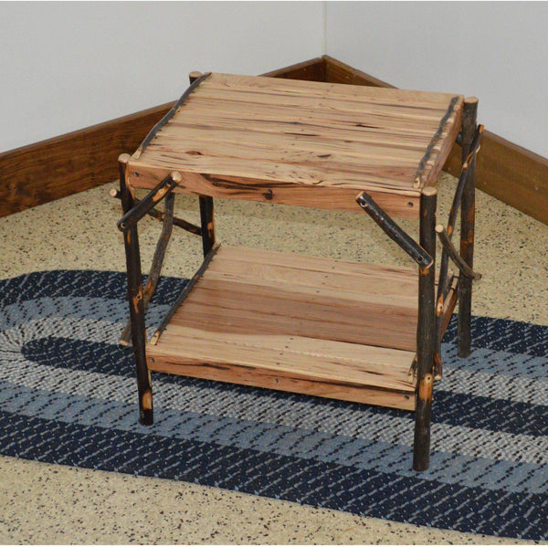 A L Furniture Co Amish Hickory End Table Ships Free In 5 7 Business Days