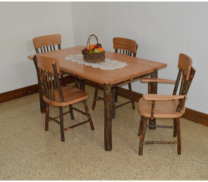 A & L Furniture Co. Hickory 5 Piece Farm Table Dining Set - Ships FREE in  5-7 Business days