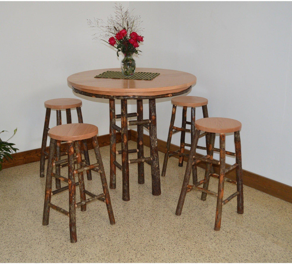 Hickory 5 Piece Bar Table Set - Rocking Furniture & A u0026 L Furniture Co. Hickory 5 Piece Bar Table Set - Rocking Furniture