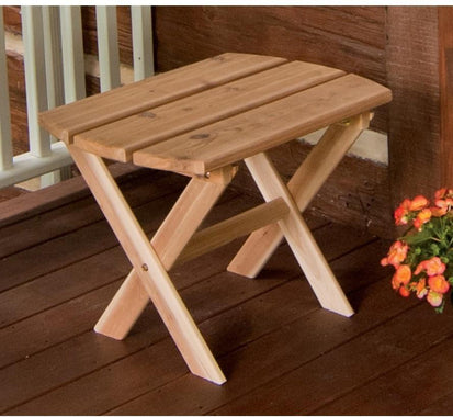 A L Furniture Co Western Red Cedar Folding Oval End Table Ships Free In 5 7 Business Days