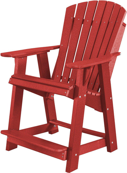 WILDRIDGE RECYCLED PLASTIC HERITAGE HIGH ADIRONDACK CHAIR   Ships In 10 14  Business Days