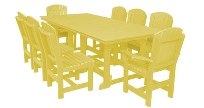 Wildridge Recycled Plastic Heritage 9 Piece Rectangular Outdoor Dining Set    Rocking Furniture