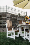 "Wildridge Recycled Plastic Heritage 44""x94"" Table with 8 Dining Chairs  - Lead time to Ship 6 TO 8 WEEKS"