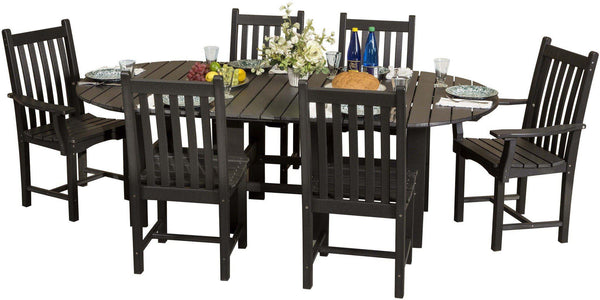 Wildridge Classic Outdoor Recycled Plastic 7 Piece Oval Patio Dining Set    Ships In 10