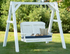 LuxCraft Classic Highback 4ft. Recycled Plastic Porch Swing -  Lead Time to Ship 4 Weeks