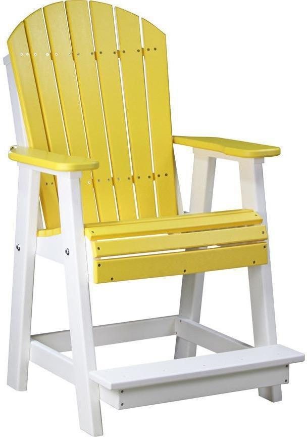 LuxCraft Recycled Plastic Counter Height Adirondack ...