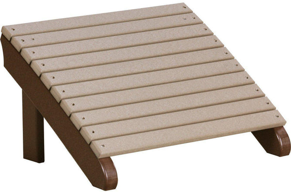 Luxcraft Recycled Plastic Deluxe Adirondack Footrest