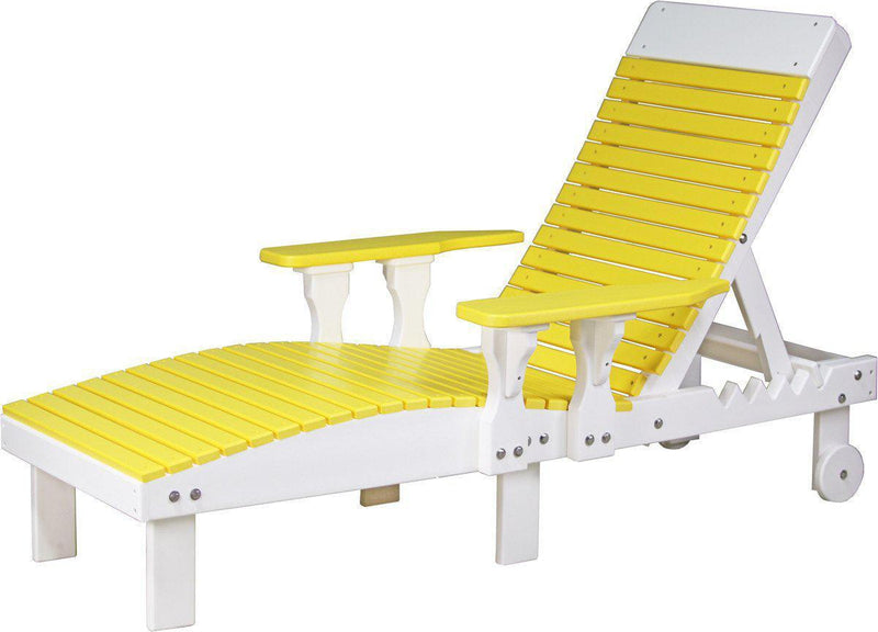 Luxcraft outdoor lounge chair recycled plastic model for Pvc pipe lounge chair
