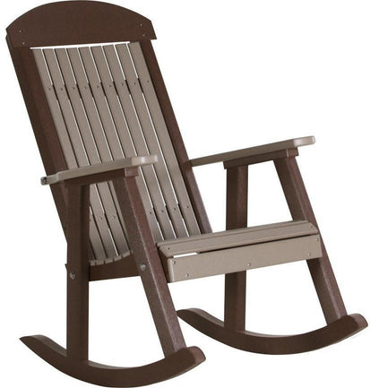 Tremendous Luxcraft Classic Highback Recycled Plastic Rocking Chair Download Free Architecture Designs Xerocsunscenecom