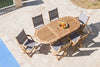 Royal Teak Collection 60/78 Outdoor Small Oval Family Expansion Dining Table - Ships FREE in 1 to 3 Business Days