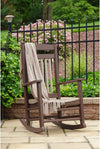 Leisure Lawns Amish Made Recycled Plastic Lumbar Porch Rocker Model #84 - LEAD TIME TO SHIP 24 WEEKS