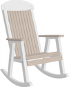 LuxCraft Classic Highback Recycled Plastic Rocking Chair - Lead Time 14 Business Days