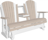 LuxCraft Recycled Plastic 5' Adirondack Glider Chair With Flip Down Center Console - Lead Time to Ship 4 Weeks