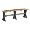 "LuxCraft Recycled Plastic Dining Height 52"" Table Bench - Sold in Pairs - LEAD TIME TO SHIP 14 WEEKS"
