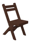 A&L Furniture Company Recycled Plastic Coronado Folding Bistro Chair - LEAD TIME TO SHIP 3 WEEKS
