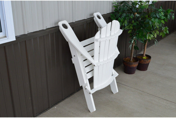 Folding Adirondack Chair With Cup Holder Reclining