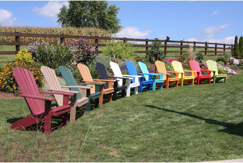 Adirondack Chair   Au0026L Furniture Company Recycled Plastic Fanback  Adirondack Chair Part 34