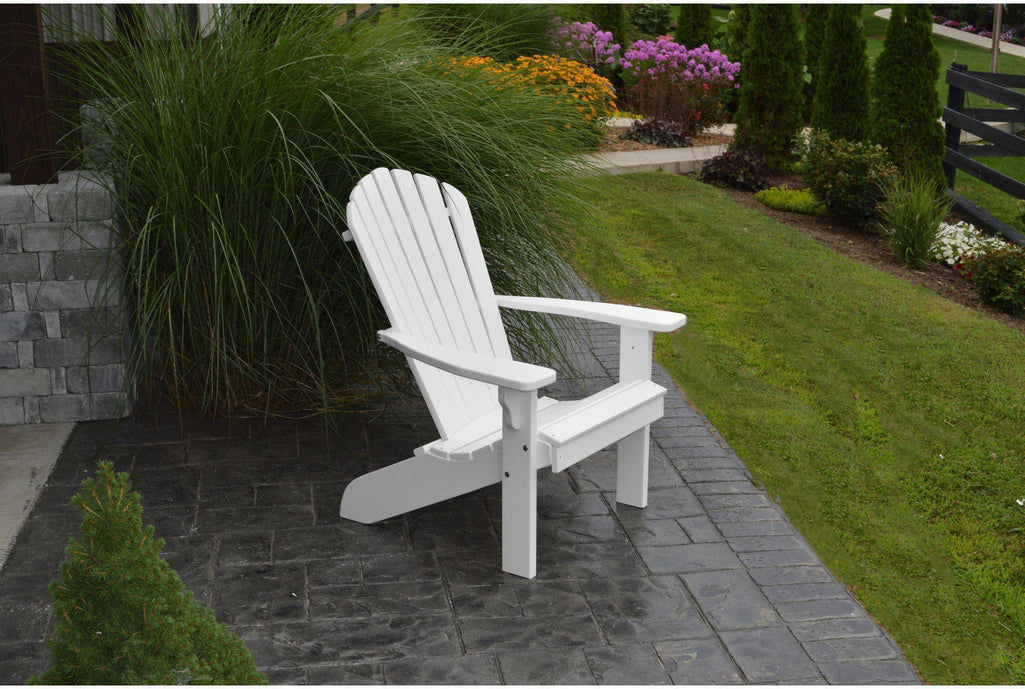 a l furniture co amish made poly fanback adirondack chair