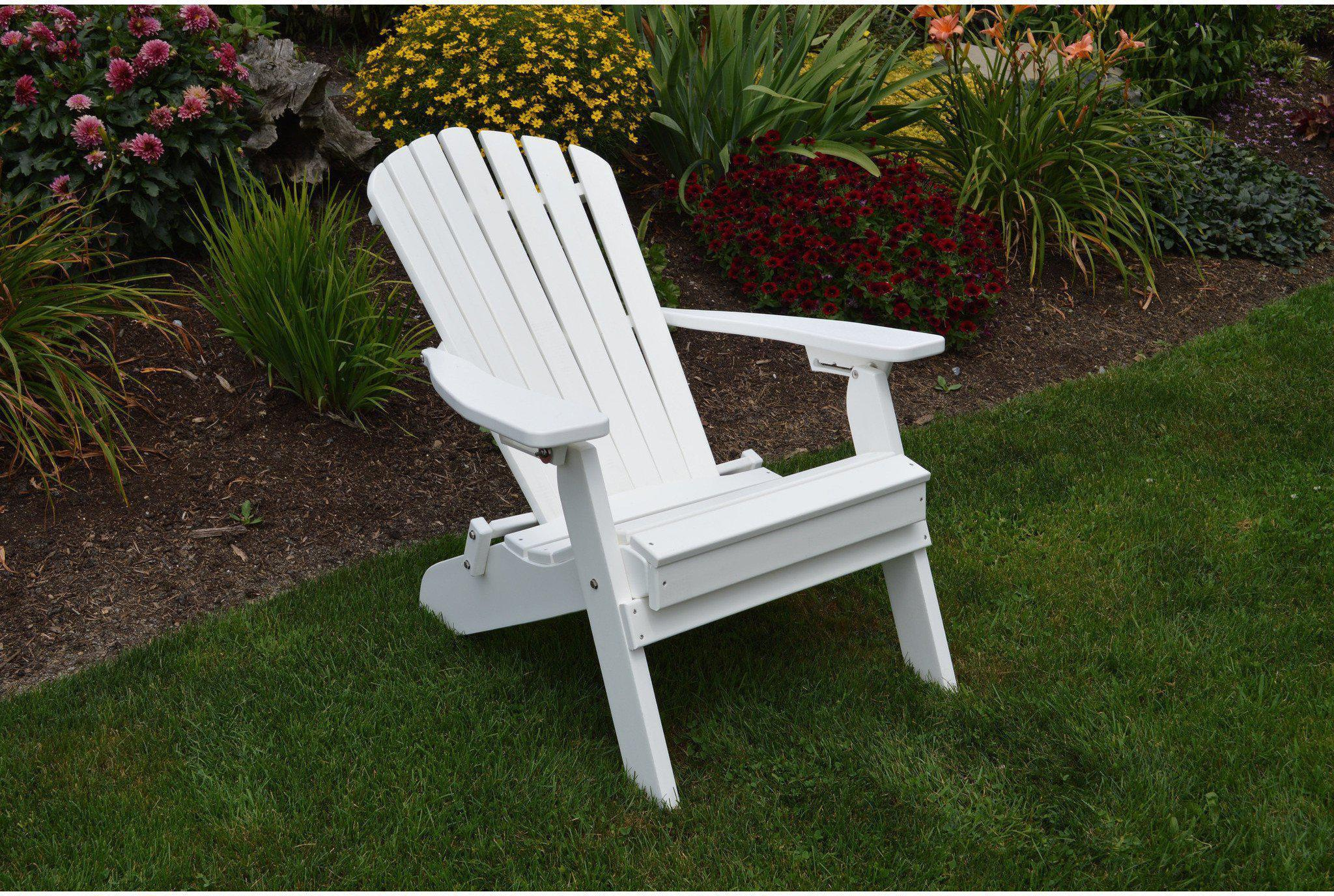 A&L Furniture Co Folding And Reclining Adirondack Chair Rocking