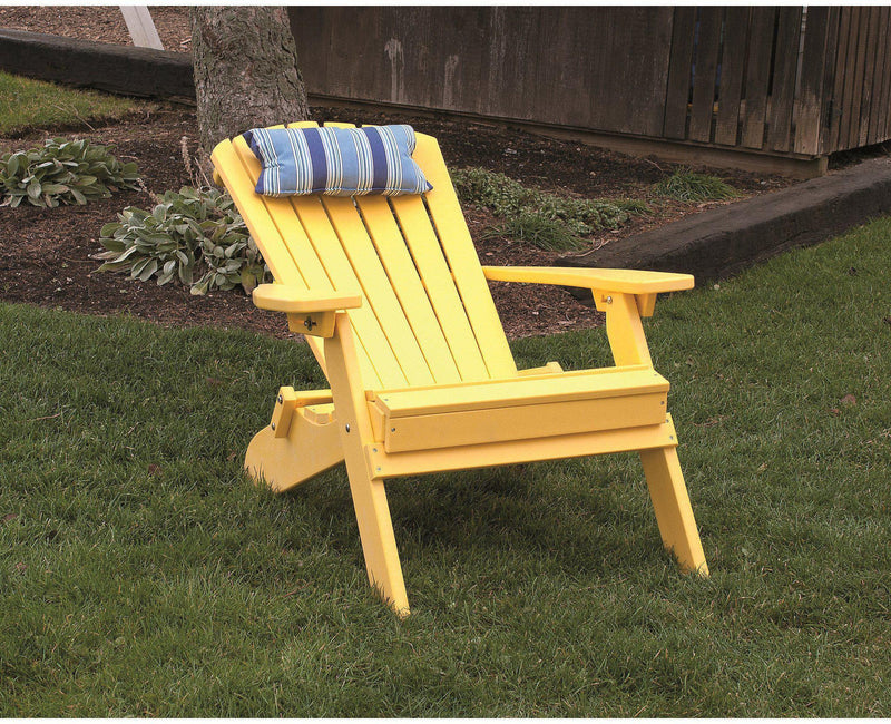 A&L Furniture Co. Folding And Reclining Adirondack Chair - Rocking ...