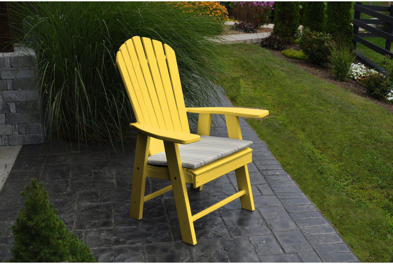 Outdoor a l furniture co poly upright adirondack chair - Chaise adirondack plastique recycle costco ...
