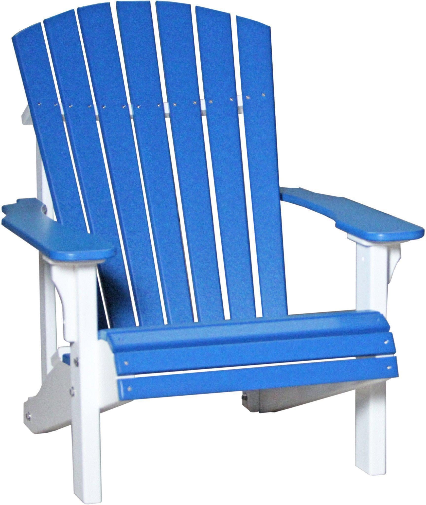LuxCraft Recycled Plastic Deluxe Adirondack Chair Rocking Furniture