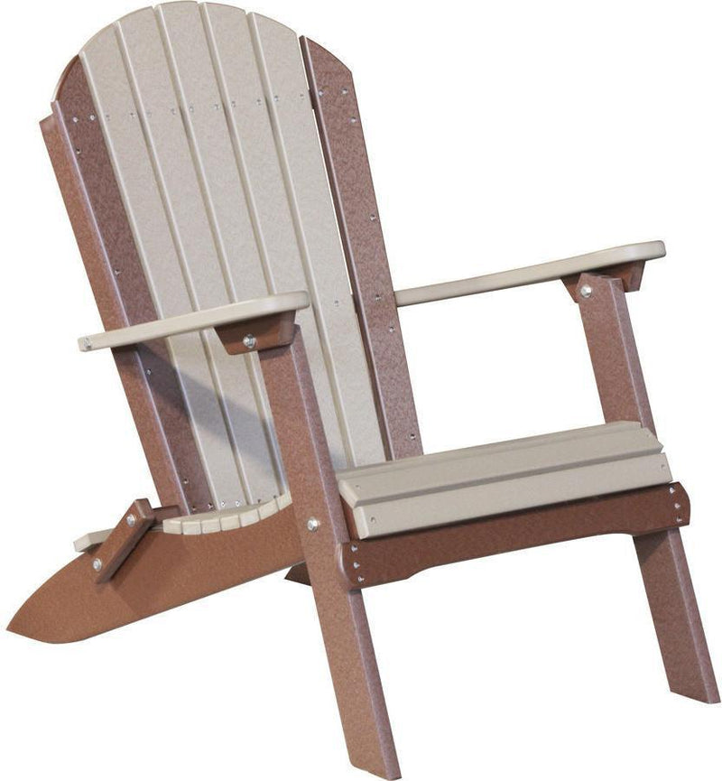 LuxCraft Recycled Plastic Folding Adirondack Chair   Rocking Furniture