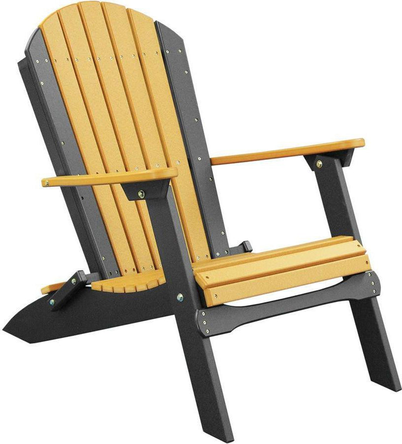 LuxCraft Recycled Plastic Folding Adirondack Chair - Rocking Furniture
