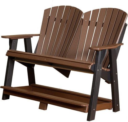 Wildridge Outdoor Tall Double Adirondack Bench - Rocking Furniture