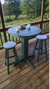 "Bar Table - A & L Furniture Recycled Plastic 33"" Round Bar Table"