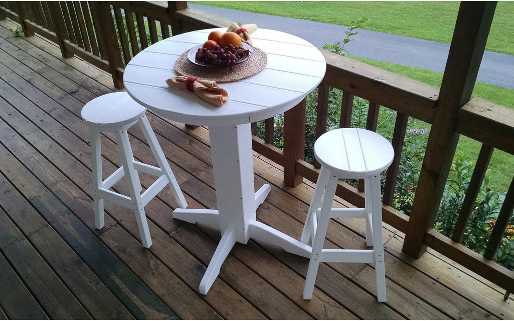 Round Plastic Picnic Table Choice Image Bar Height Dining Table Set - Recycled plastic round picnic table